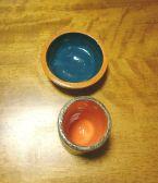 Pote em cerâmica, dupla queima.