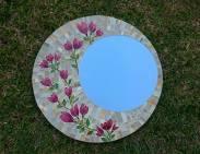 Espelho, mosaico em Vidro.