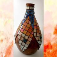 Cerêmica com mosaico.