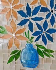 Mosaico 17 - Porta-chaves em Vidro