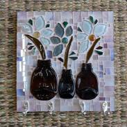 Porta-chaves, mosaico em Vidro.