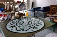 Piso, mosaico em Vidro.