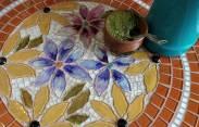 Mosaico em Vidro.