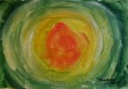 Sol, 1995 - acrílico sobre tela.