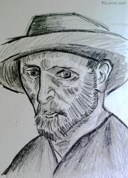 Ensaio sobre Van Gogh, 2009 - carvão sobre papel.