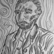 Ensaio sobre Van Gogh, 2009 - lápis sobre papel.