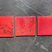 Tessela de Vidro Vermelha