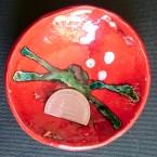 Troféu em cerâmica, dupla queima.