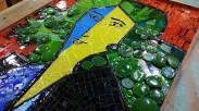 Lydia, mosaico em vitral.