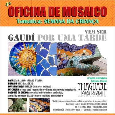 YMAGUARE - Flayer Ofinica Gaudi CRIANÇA 07-10-2017 A