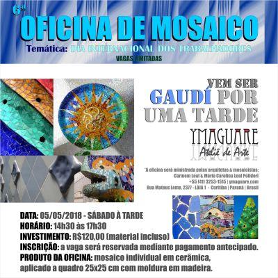 YMAGUARE 2018 - Flayer Ofinica Gaudi DIA do TRABALHADOR 5 de Maio