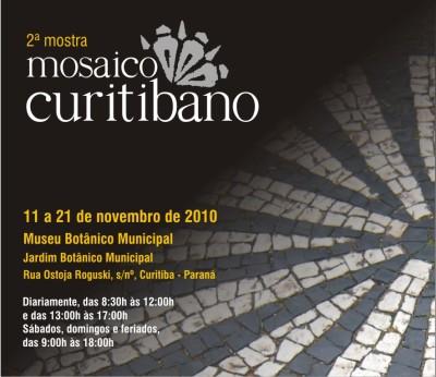 convite 2ª mostra mosaico 2010