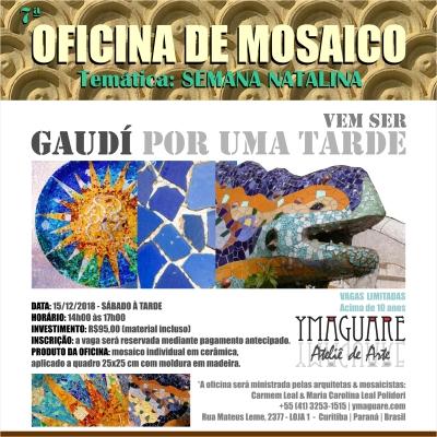 YMAGUARE - Flayer Oficina Gaudi NATAL 15-12-2018